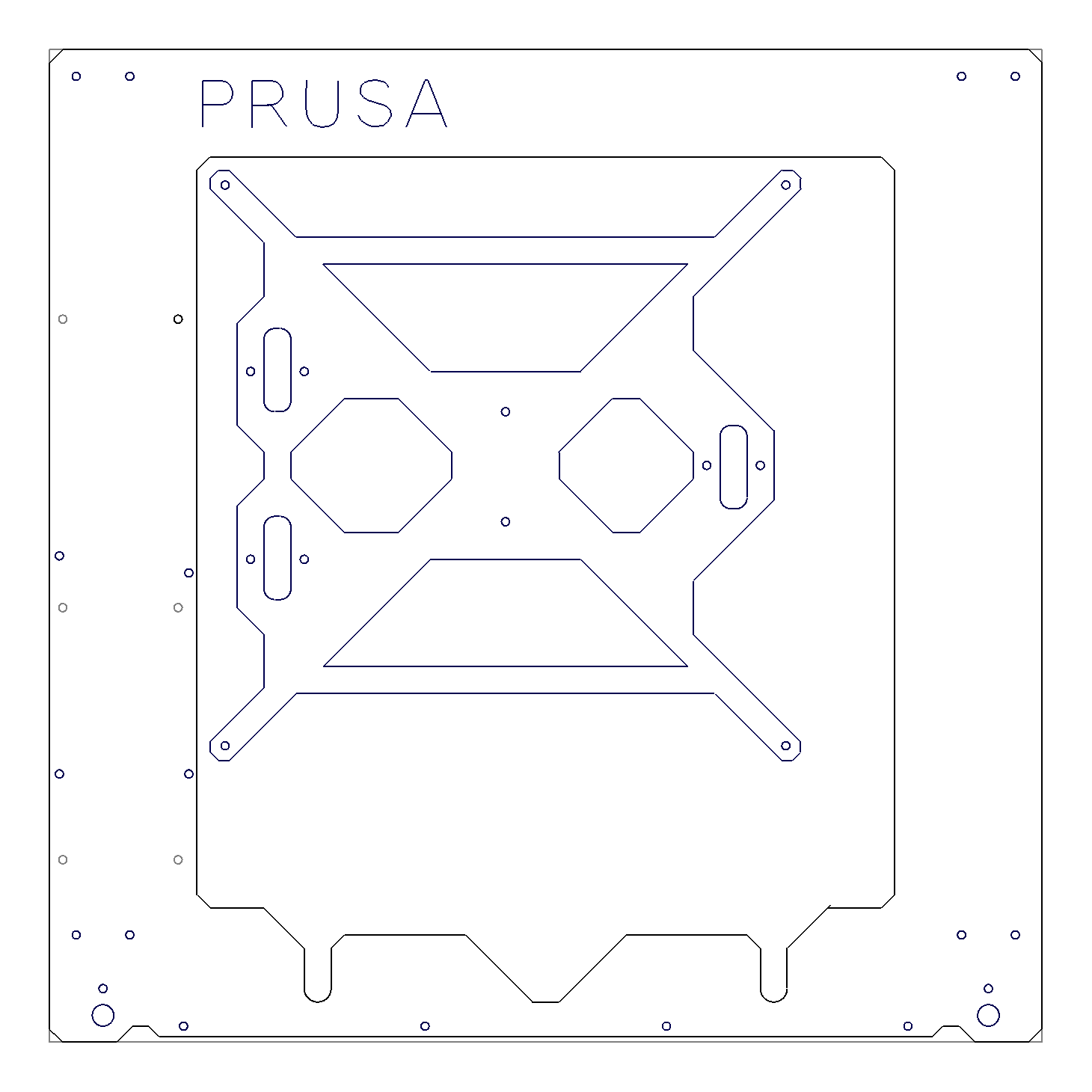 Prusa i3 Rework - Frame and Heatbed Mount - File